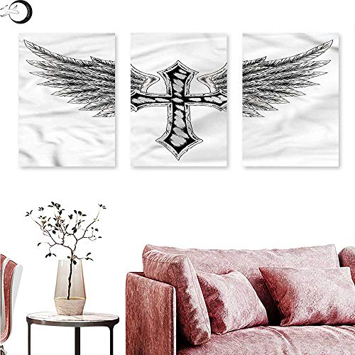 Anniutwo Gothic Wall hangings Heraldic Wing and Feathers Triptych Art W 24