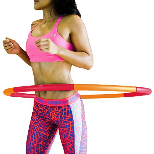 Fitness Hula Hoop by Healthy Model Life - Easy to Spin, Premium Quality and soft padding Hula Hoop (Hoop Adults For Weighted Hula)