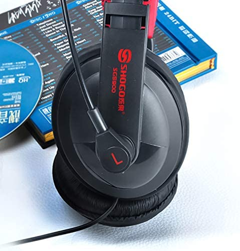 GSUMMER Gaming Headset SG-5900 Headset Subwoofer Wired Headset Gaming Gaming Computer Big Headphone with Wheat