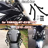 Motorcycle 15 16 17 MT03 MT25 Black Steel Crash Bar