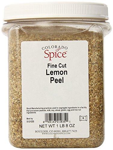 Colorado Spice Lemon Peel, Fine Cut, 24 Ounce Jar
