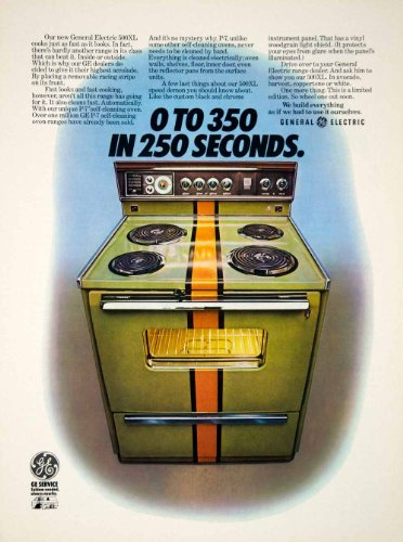 1971 Ad General Electric GE 500XL Range Stove Oven Kitchen Appliance Household - Original Print Ad from PeriodPaper LLC-Collectible Original Print Archive