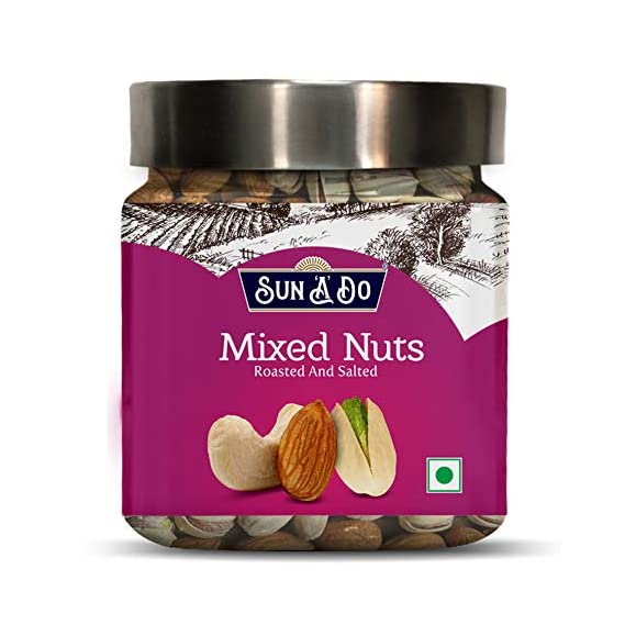 SUN-A-DO Mixed Nuts (Almonds, Cashew & Pistachios) Roasted & Salted - 200gm