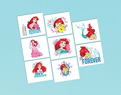 amscan Disney Ariel 'Dream Big' Birthday Party Fun Loot Favor 8 x Tattoo -