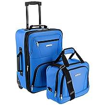 ROCKLAND Luggage 2-Piece Set, Blue, One Size