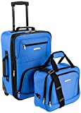 Rockland Luggage Set Softshell Suitcase & Carry On Set 2piece Blue Deal (Small Image)