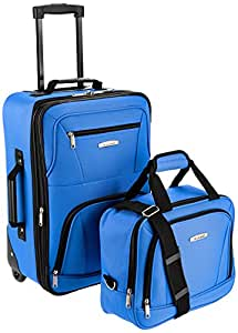 ROCKLAND Luggage 2-Piece Set, Blue, One Size