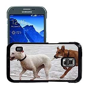 Just Phone Cases Etui Housse Coque de Protection Cover Rigide pour // M00421764 Perros Bastones Reproducir Bite Romp // Samsung Galaxy S5 Active SM-G870A (Not Fit S5)