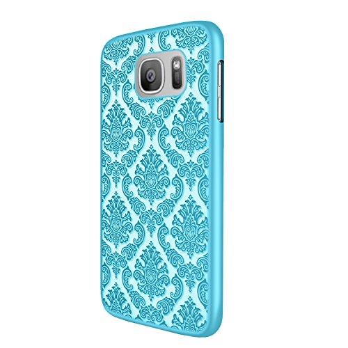 iProtect Samsung Galaxy S7 Edge Hard Case - transparent edles orientalisches Design in Blau