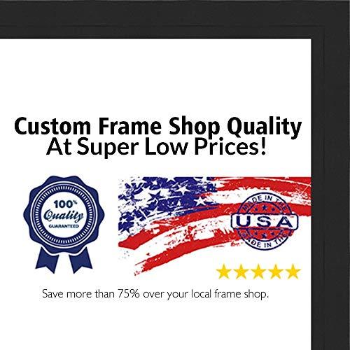 Poster Palooza 30x30 Contemporary Black Wood Shadow Box Square Frame - UV Acrylic, Acid Free Backing, Hanging Hardware ()