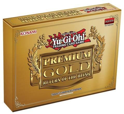 1 (One) Pack Mini Box of Yu-Gi-Oh! - Premium Gold - Return of the Bling Box (3 Booster Packs/Mini Box) Konami