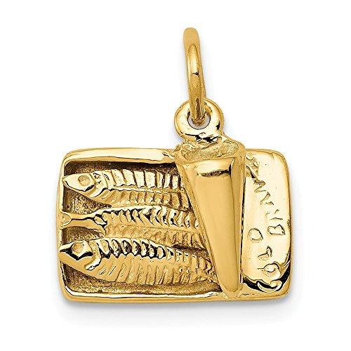 Jewelry Pendants & Charms Themed Charms 14k Sardine Can Charm