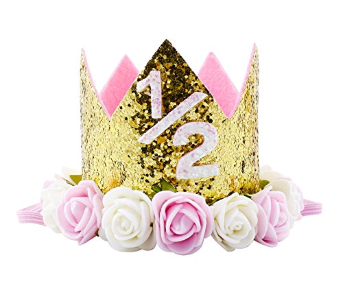 Aivtalk Baby Birthday Headbands Flower Crown Princess Tiara Hair Accessories