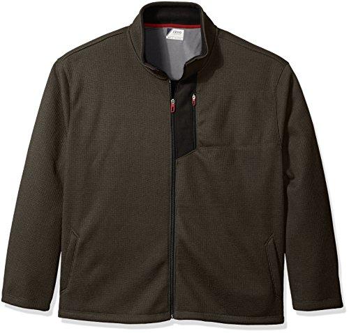 IZOD Men's Big and Tall Shaker Fleece Jacket, Black Heath...