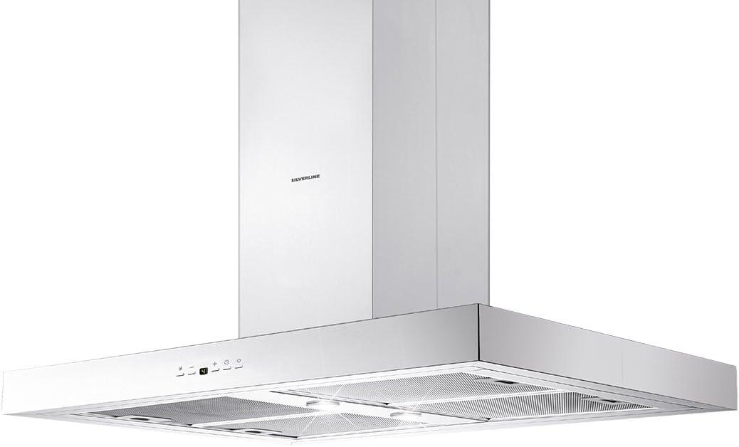 Silverline Vera Isola vri 985.3 S/Campana isla Acero Inoxidable//90 cm/B: Amazon.es: Grandes electrodomésticos