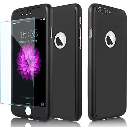 Armor Silicone Hybrid Shockproof Back Case PC Bumper For iPhone 7 Plus (Silver) - 1