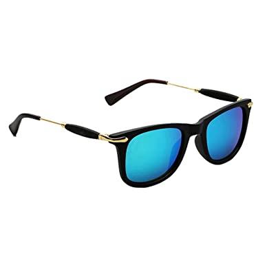 2d5e7c84e981 Unisex Wayfarer Square 2148 Blue Mercury Sunglasses for Men   Women (UV 400  Protected HD VISION) Gift Item  Amazon.in  Clothing   Accessories