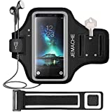 Galaxy S10/S9/S8 Armband, JEMACHE Gym Run/Jog/Exercise Workout Arm Band for Samsung Galaxy S10/S9/S8/S7 Edge with Key/Card Holder (Black)