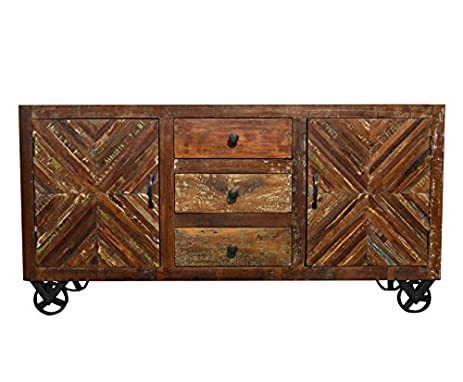 Sideboard Industrial amazon com reclaimed industrial sideboard buffet table storage