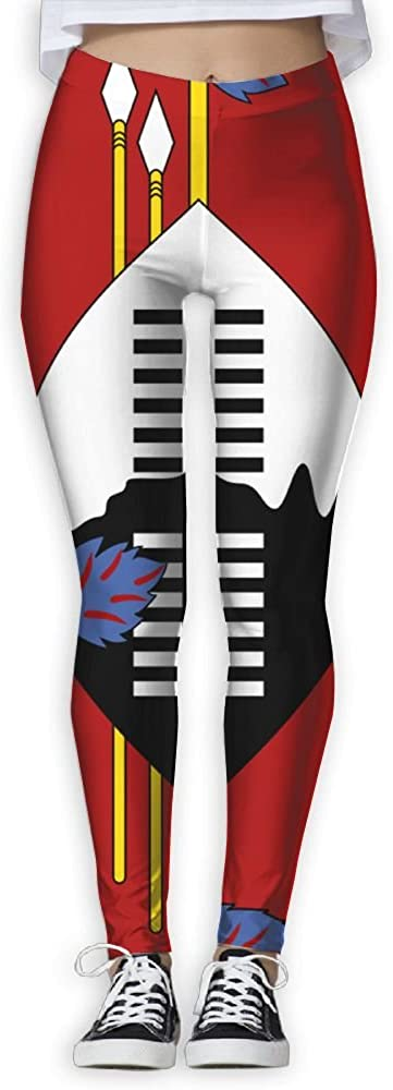 BabylLave Flag Of Swaziland Women Printed Full-Length Yoga Workout Leggings For Running Outdoor Sports