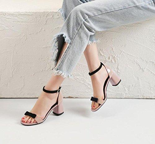 Open Chunky para de Mujer Comfort Summer Toe Sandals Casual Heel Rosado Zapatos X04qx