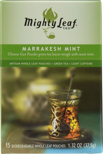 Mighty Leaf Tea, Marrakesh Mint Green Tea --(Pack of 6) (Mighty Leaf Mint Tea)