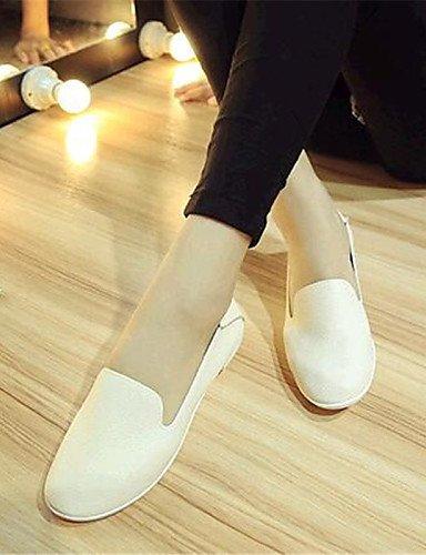 Eu38 semicuero Plata Plano comfort Uk5 Zapatos 5 tacón us7 mocasines Blanco exterior negro Zq De Mujer 5 Black Cn38 Gyht 5 Casual Silver us7 4Tqvnwf