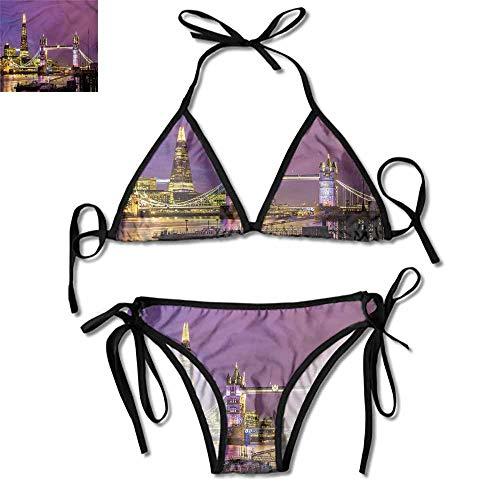Bikini Set London,Tower Bridge in London One Size Bright Colors (Schwimmen-shops London)