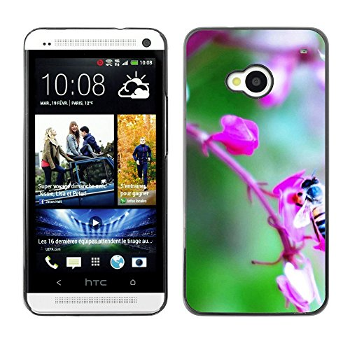 Soft Silicone Rubber Case Hard Cover Protective Accessory Compatible with HTC ONE M7 2013 - Plant Nature Forrest Flower 72
