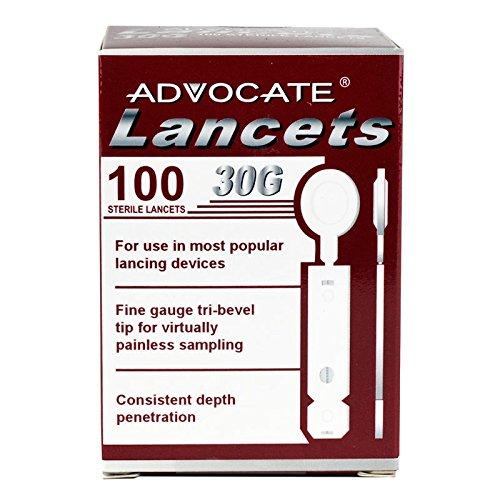 Advocate Thin Lancets 100/bx 50bx/cs, Case of 50