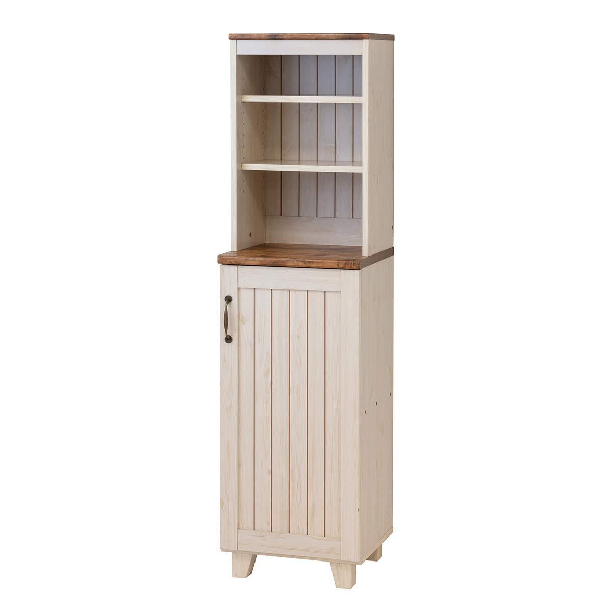 クロシオ 食器棚 ホワイト 幅40cm カントリー 収納 家具 キャビネット 036384 幅40cm  B07HXZRX9F