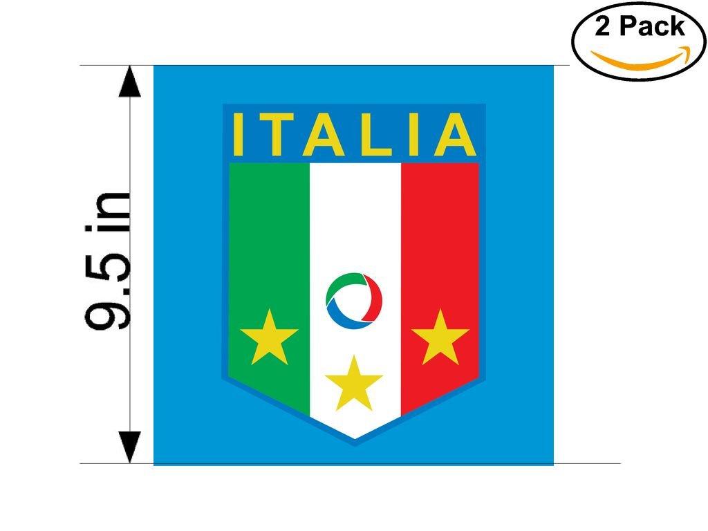 ITALIA Italy Soccer Football Club FC 2 Stickers Car Bumper Window Sticker Decal Huge 9.5 inches