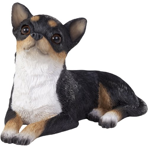 Sandicast Tri Chihuahua Sculpture, Lying, Small Size -