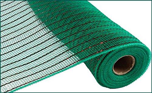 Foil Matte - Craig Bachman 10 Inch x 30 Feet Deco Poly Mesh Ribbon - Emerald Green Foil with Matte Red