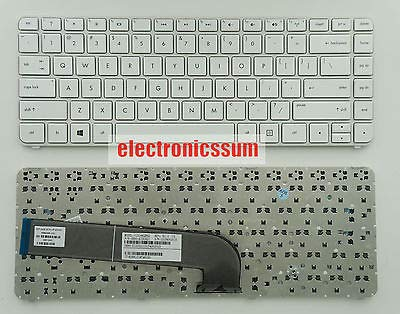 FidgetFidget Keyboard for HP Pavilion DV4-5000 DV4-5100 699286-001 V131662BS2 US White Frame (Hp Pavilion Dv4 Keyboard White)