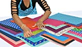 7 inch quilting squares - 30 Pieces - Polka Dot - Individual Pre-Cut Quilt Squares - Assortment of Different Colors (7 inch x 7 inch)