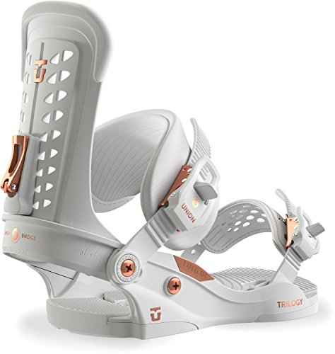 Union Trilogy Snowboard Bindings White Womens Sz M (6-9)