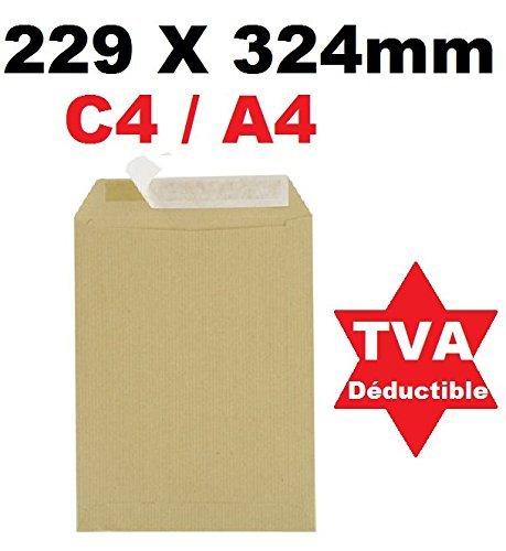 con chiusura adesiva siliconata 229 x 324 mm,/peso 90 g formato C4 per documenti A4 Univers Graphique UGENVC4M Busta commerciale grande in carta kraft confezione da 25 colore: marrone scuro