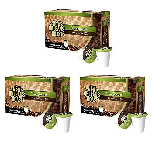 New Orleans Roast - Decaffeinated Single Cups, 12 Count (PACK OF 3 -