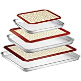 Best Cookie Sheets - Wildone Baking Sheet with Silicone Mat Set, Set Review