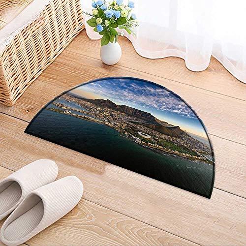- Semicircle Area Rug Carpet Table Mountain Sunset Door mat Indoors Bathroom Mats Non Slip W39 x H28 INCH
