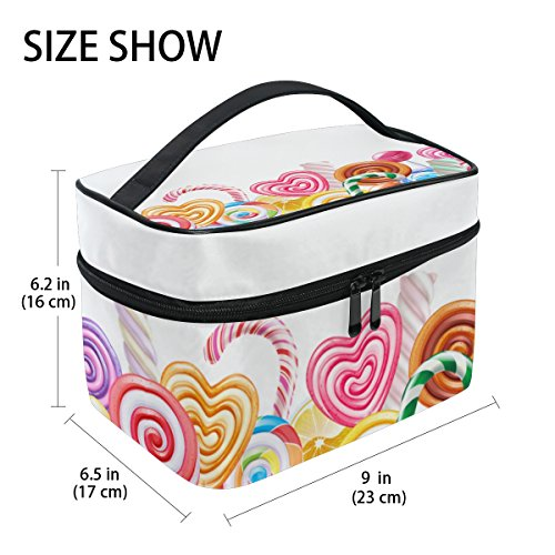 U LIFE Valentines Day Birthday Sugar Heart Love You Summer Spring Wedding Travel Cosmetic Makeup Toiletry Storage Bags Boxes Cases Organizers by ALAZA