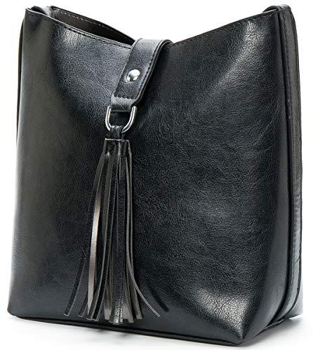 Molodo Women's PU Leather Purse Shoulder Cross-body Bag Tass