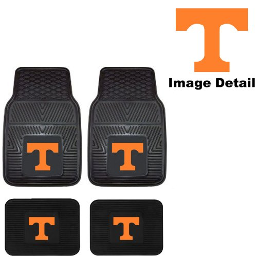 (UT University of Tennessee Volunteers Front & Rear Car Truck SUV Vinyl Car Floor Mats - 4PC)