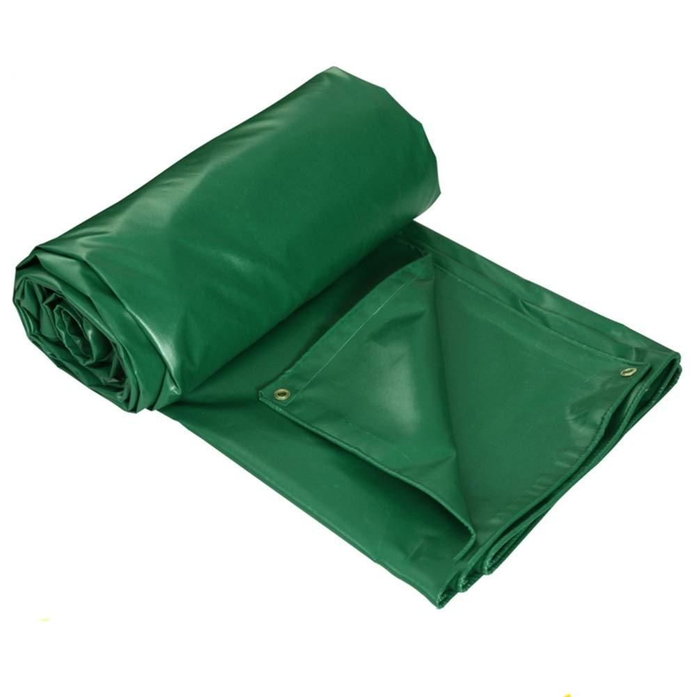 2×2M  GYT BÂche épaisse de bÂche de Camion de Tissu enduite par PVC de Toile de Pluie épaisse, Vert, 400 g m²