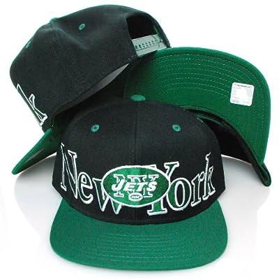 New York Jets Black Green Adjustable Snapback