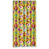 36''x72'' Inches (Small) - Pretty Animal Cartoons Colorful Rabbit Chick Shower Curtain - Waterproof Polyester Fabric - Shower Rings Included