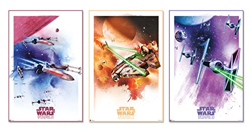 Star Wars: Episode IV, VI & VI - 3 Piece Movie Poster / Prin
