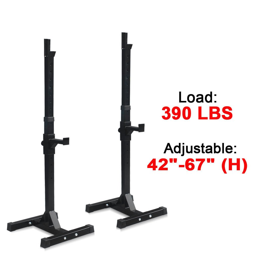 Safety Stands For Bench Press Part - 37: Amazon.com : ZENY Set Of 2 Adjustable Standard Solid Steel Squat Stands Gym  Barbell Rack Free Bench Press Stands (#1) : Sports U0026 Outdoors
