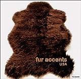Fur Accents Faux Fur Russian Brown Bear Rug (Large 5 X 7)
